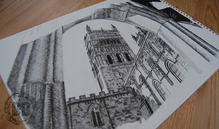 Durham Cathedral Drawings Durham Cathedral Cloisters