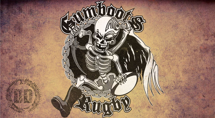Gumboots Rugby Logo Design from Dark Design Graphics