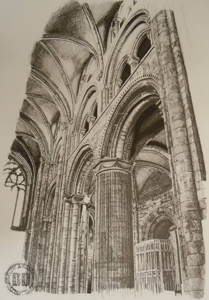 durham cathedral columns how do you draw buildings. Black Bedroom Furniture Sets. Home Design Ideas