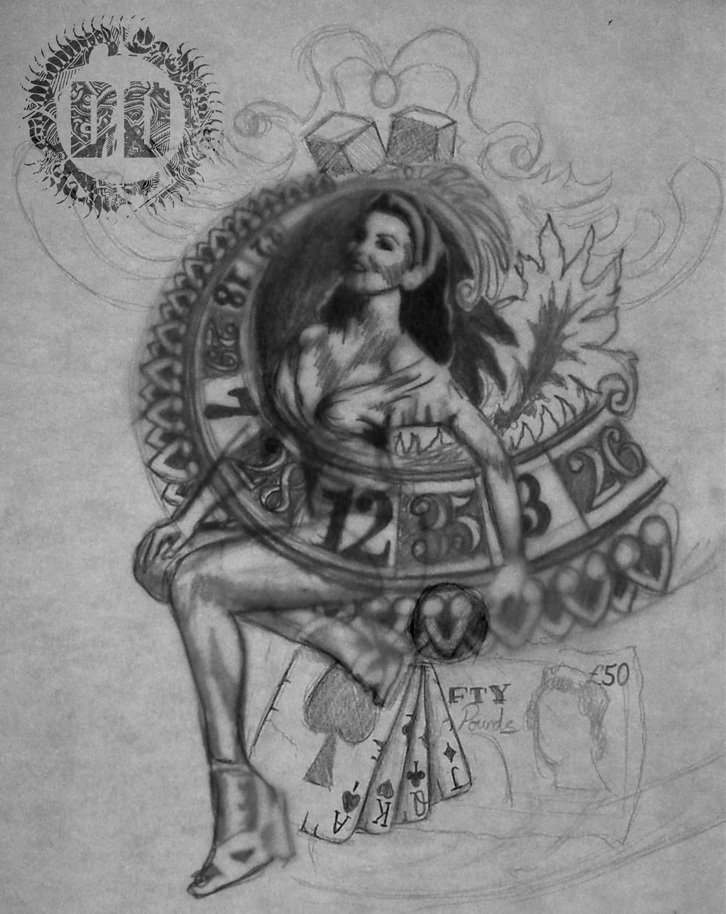 Pin Up Tattoo Concept Design from Dark Design Graphics