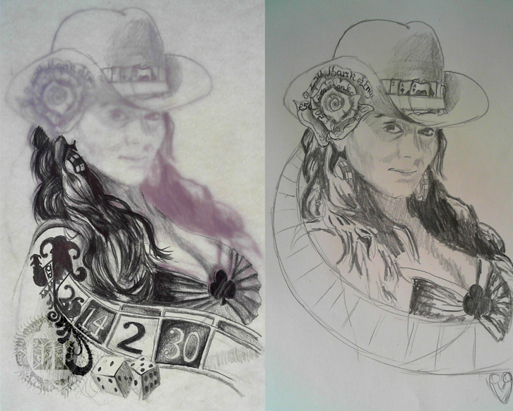 Pin Up Tattoo Concept Designs 02 from Dark Design Graphics