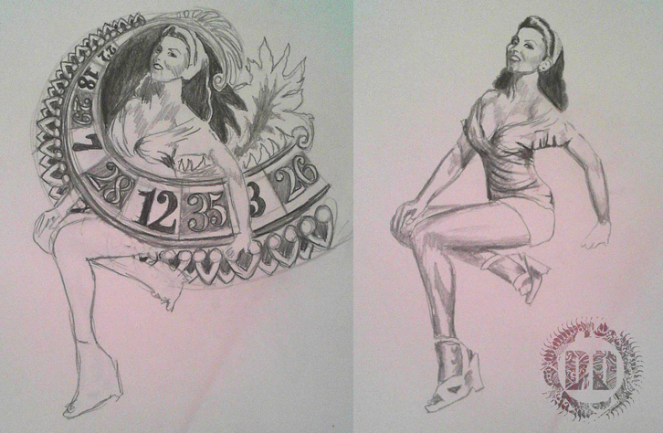 Pin Up Tattoo Concept Designs from Dark Design Graphics