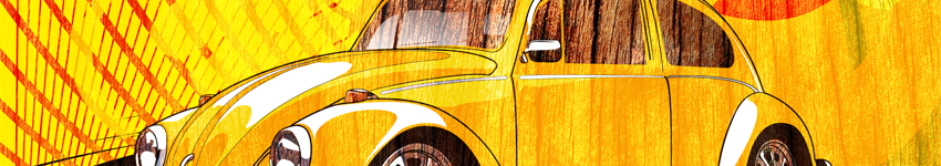 Volkswagen Beetle Print - Now available www.darkdesigngraphics.com