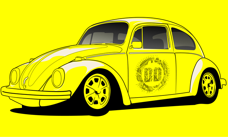Volkswagen Beetle Print - Now available http://darkdesigngraphics.mysupadupa.com/