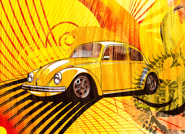 Volkswagen Beetle Print now available at http://darkdesigngraphics.mysupadupa.com/