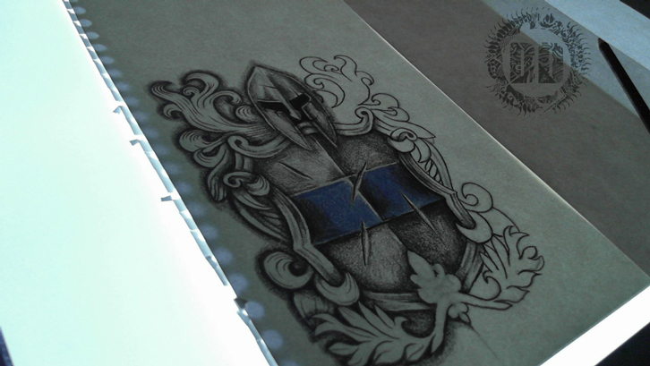 Sheild Crest Tattoo Work