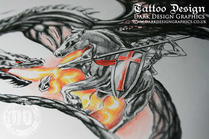 St George Custom Tattoo Design from Dark Design Graphics