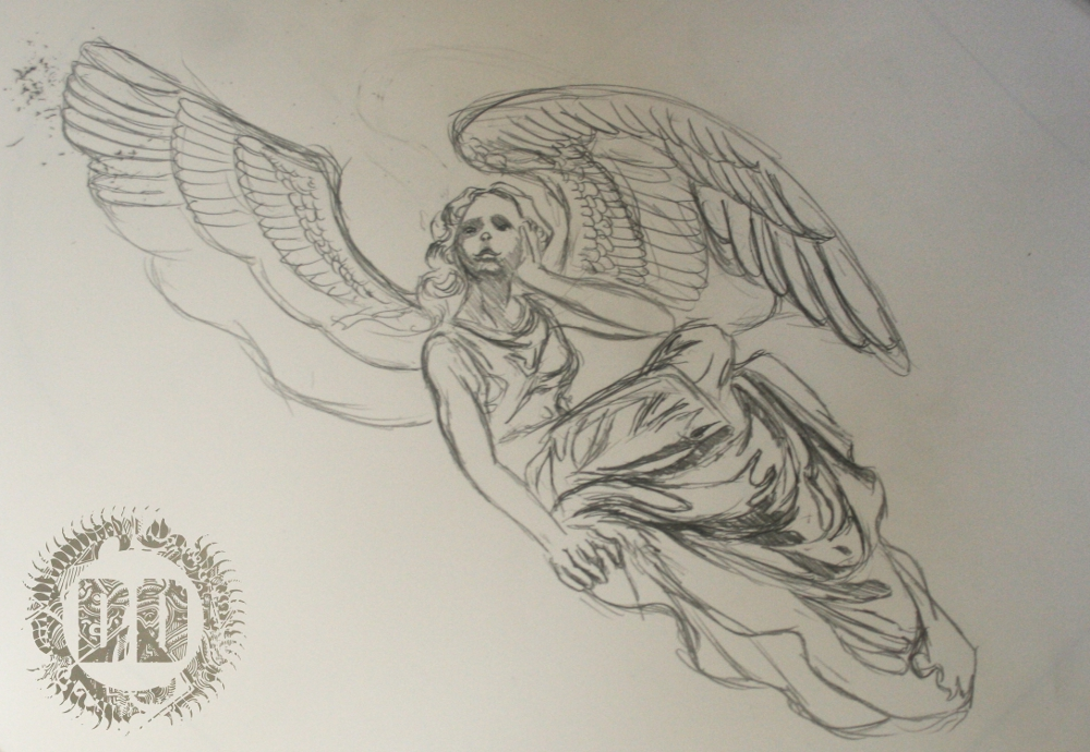 Angel Tattoo Design from Dark Design Graphics