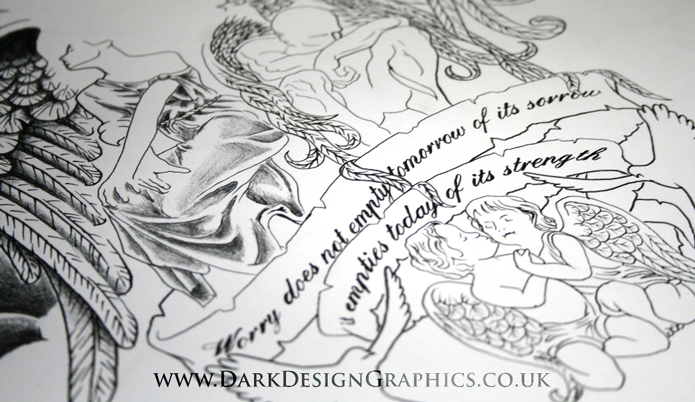 Angels and Cherubs Tattoo Design Concept from Dark Design Graphics