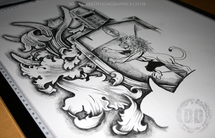 Coat Of Arms Tattoo Design Mantle