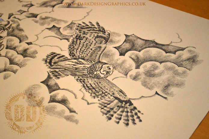 Owl Tattoo Design from Dark Design Graphics