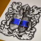 Police Tattoo Design from Dark Design Graphics