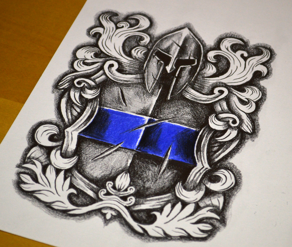 ... Tattoo Design Downloads › Coats Of Arms › Police Tattoo Design