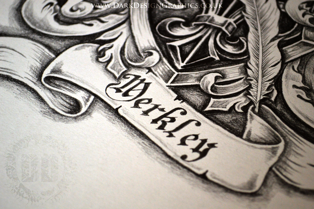 Merkley Family Coat of Arms from Dark Design Graphics