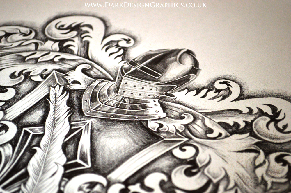 Merkley Coat of Arms Tattoo Design from Dark Design Graphics