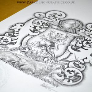 Rampant Lion Coat of Arms Tattoo Download
