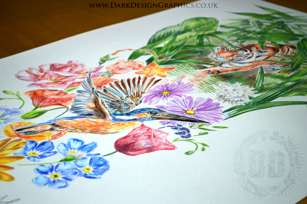 Full Colour Full Sleeve Tattoo Design from Dark Design Graphics