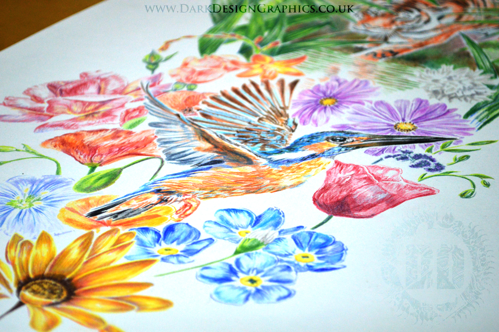 Full colour full sleeve nature tattoo design for Pictures of designs