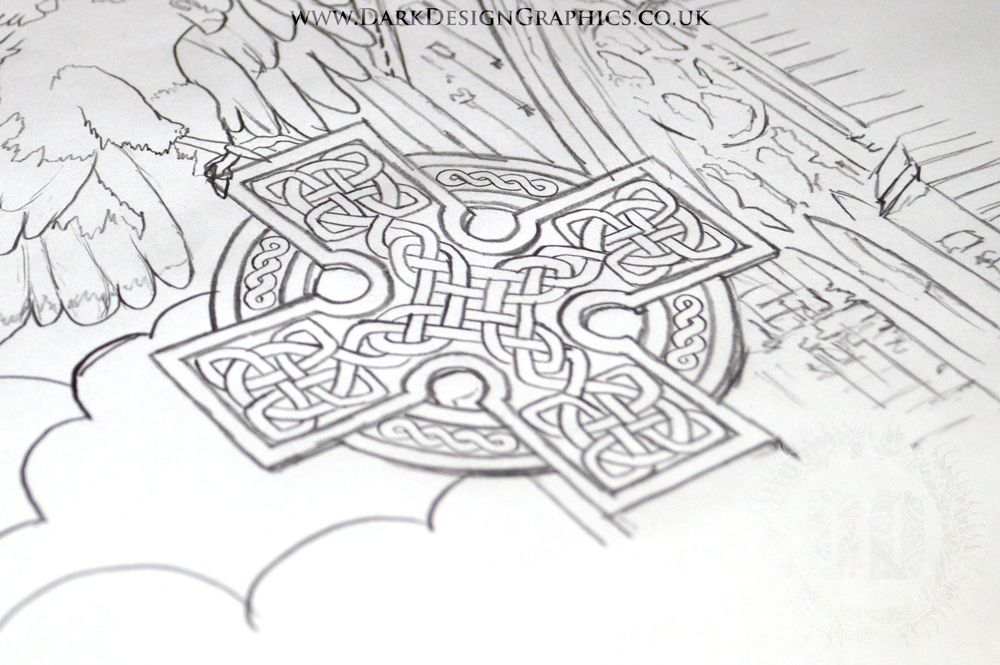 Celtic Cross Tattoo Concept from Dark Design Graphics