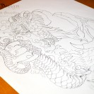 Dragon-Tattoo-Stencil