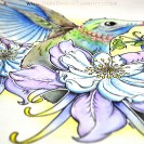 Humming Bird Tattoo Design from Dark Design Graphics