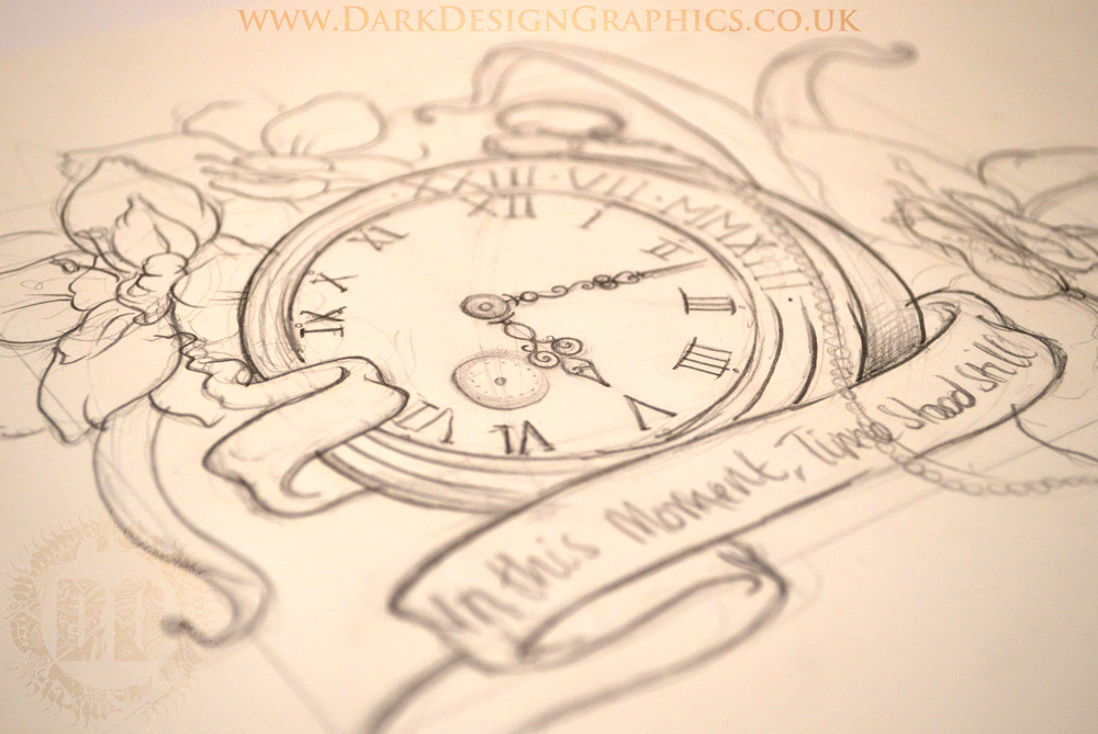 Pocket Watch Tattoo concept