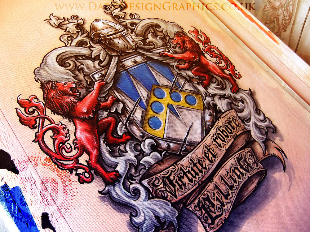 a colour coat of arms dark design graphics graphic design newcastle. Black Bedroom Furniture Sets. Home Design Ideas