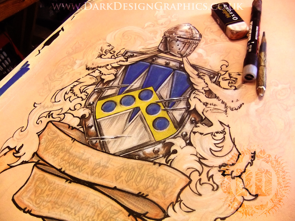Custom Coat of Arms painting from Dark Design Graphics