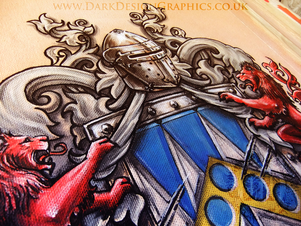 Custom Colour Coat of Arms from Dark Design Graphics