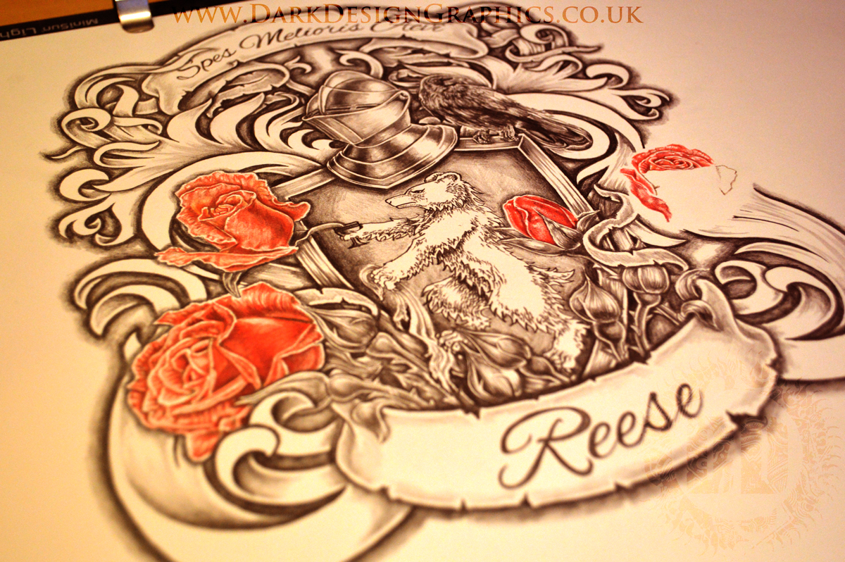 Coat of Arms & Roses Work In Progress From Dark Design Graphics