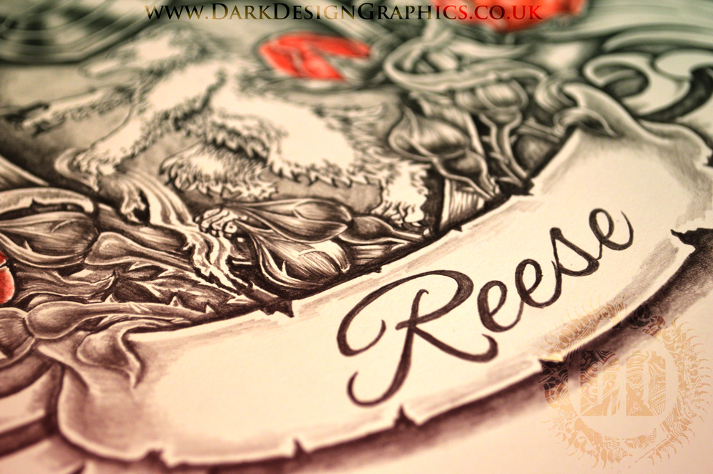 Reese Coat of Arms from Dark Design Graphics