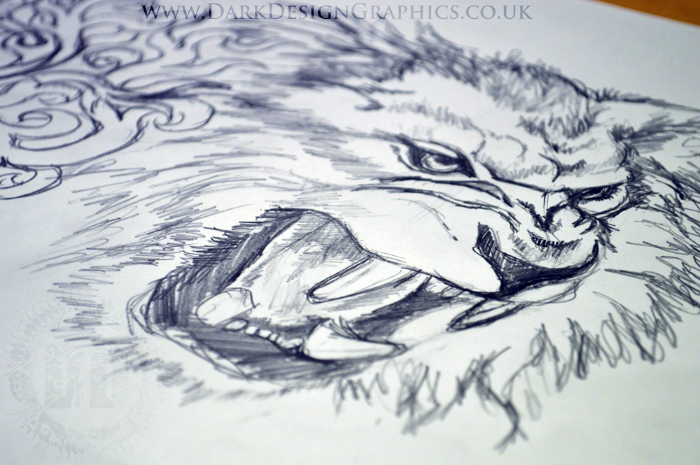 Lion Coat of Arms Creating a Tattoo Stencil Concept