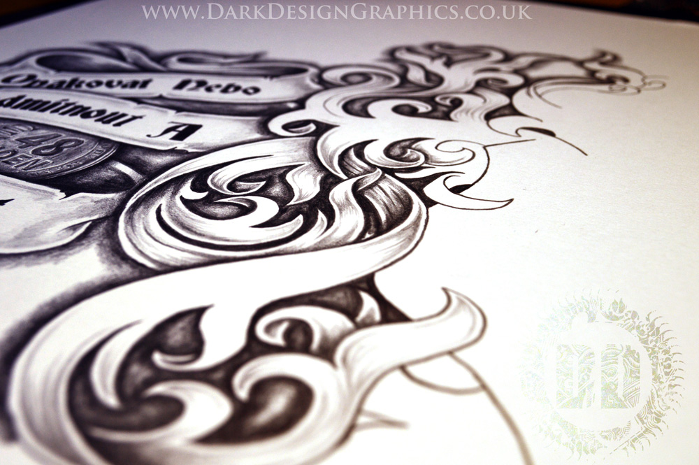 Creating A Tattoo Stencil Half Sleeve Chest Dark Design Graphics