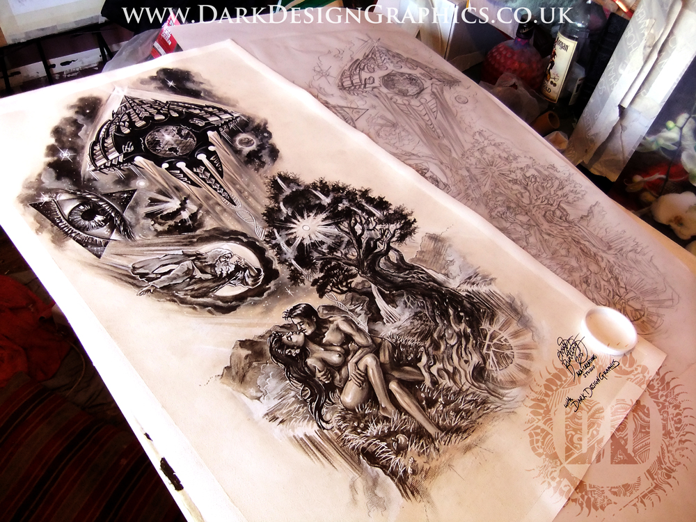Tattoo Sleeve Stencils: Full Sleeve Cover Up Tattoo