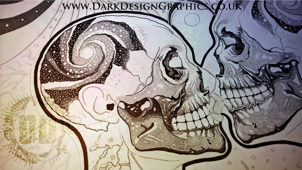 Custom design from Dark Design Graphics Male and female embrace kiss
