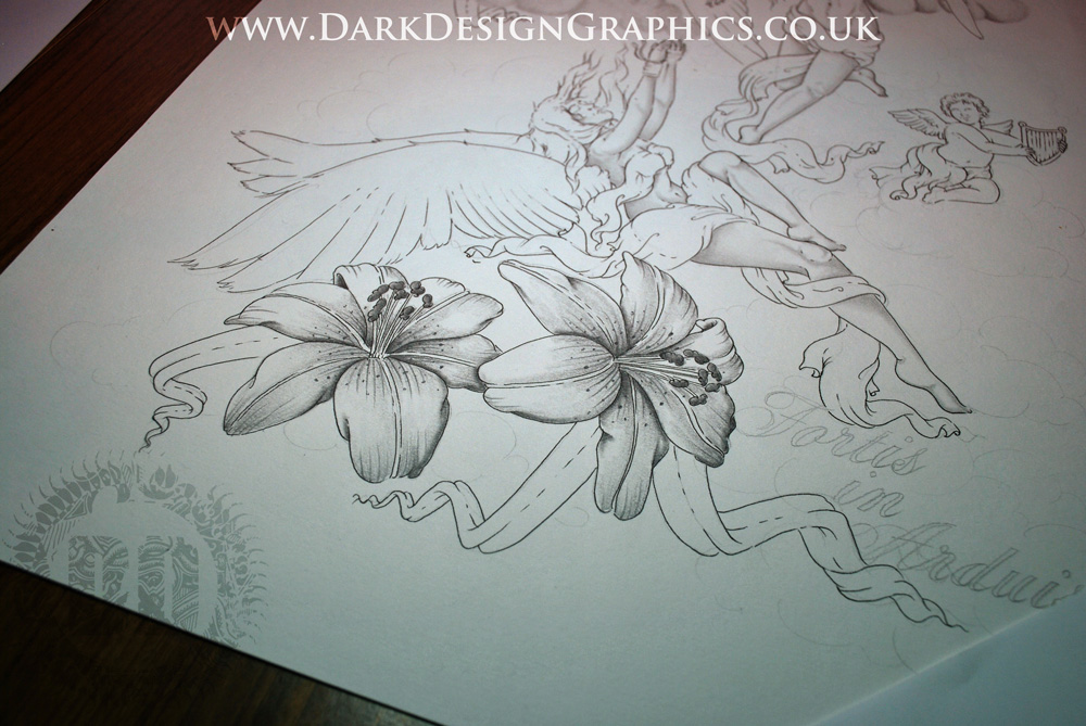 lily tattoo concept