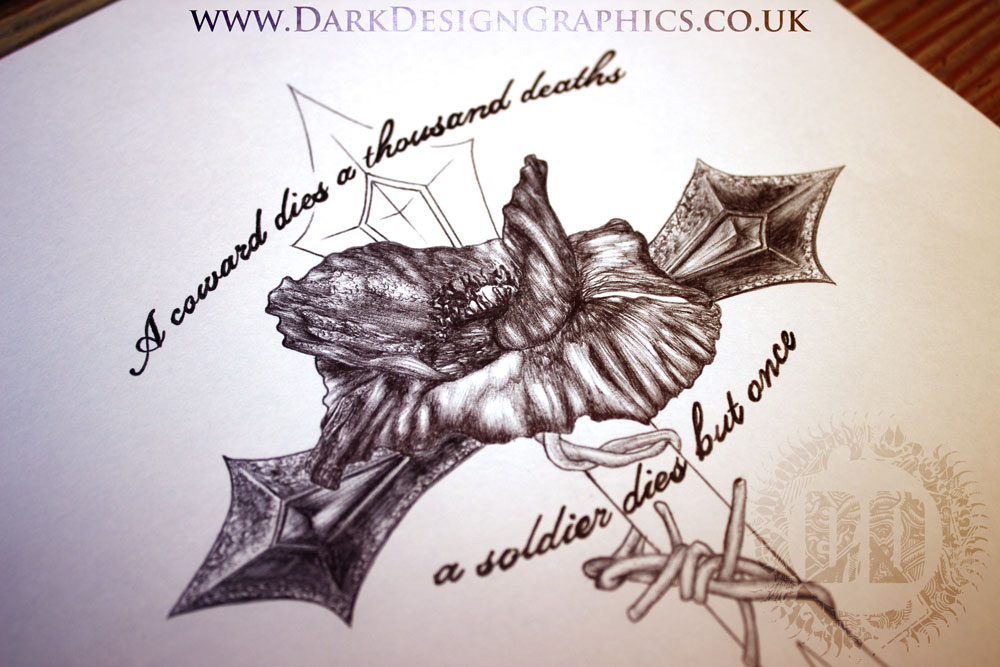 Remembrance Day Poppy Tattoo Design