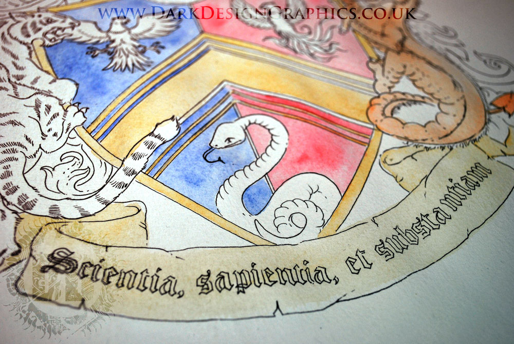 Banner from a Hand-drawn Coat of Arms