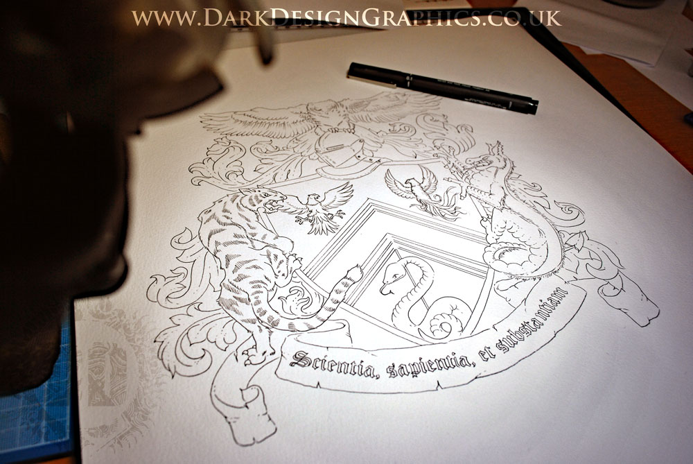 Hand-drawn Coat of Arms Concept