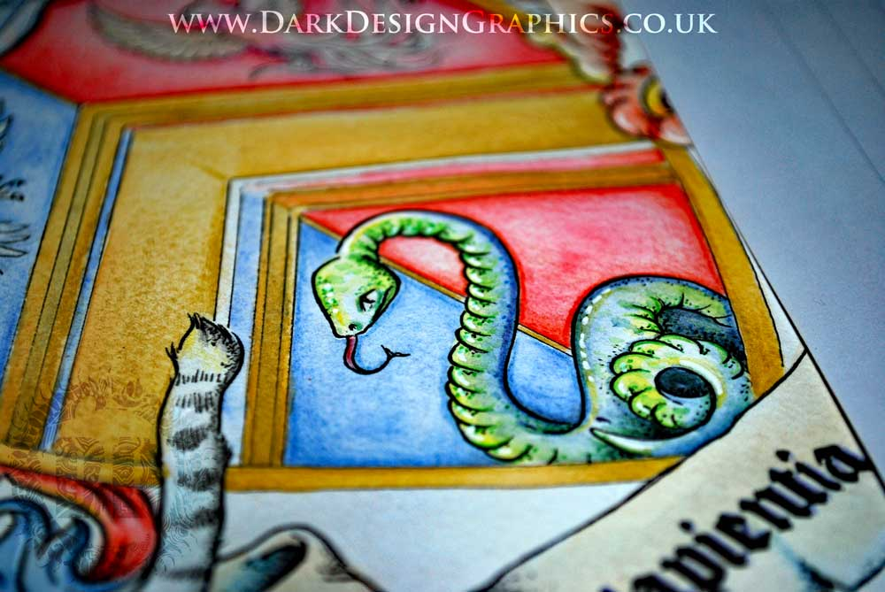 Herald serpent - Hand-drawn Coat of Arms