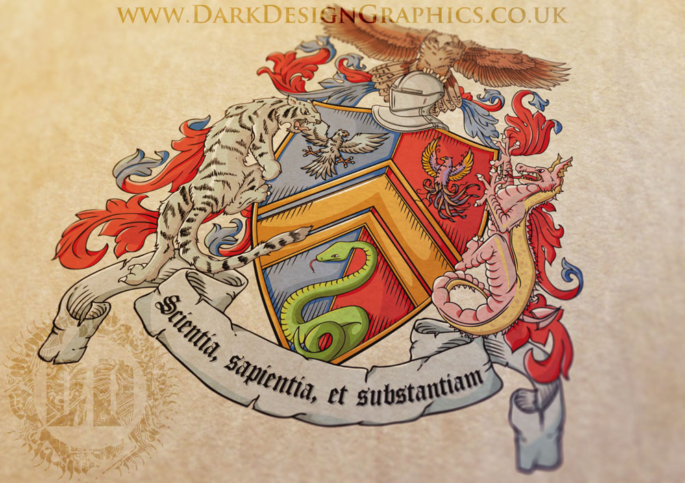 Vector Coat of Arms Design Full colour
