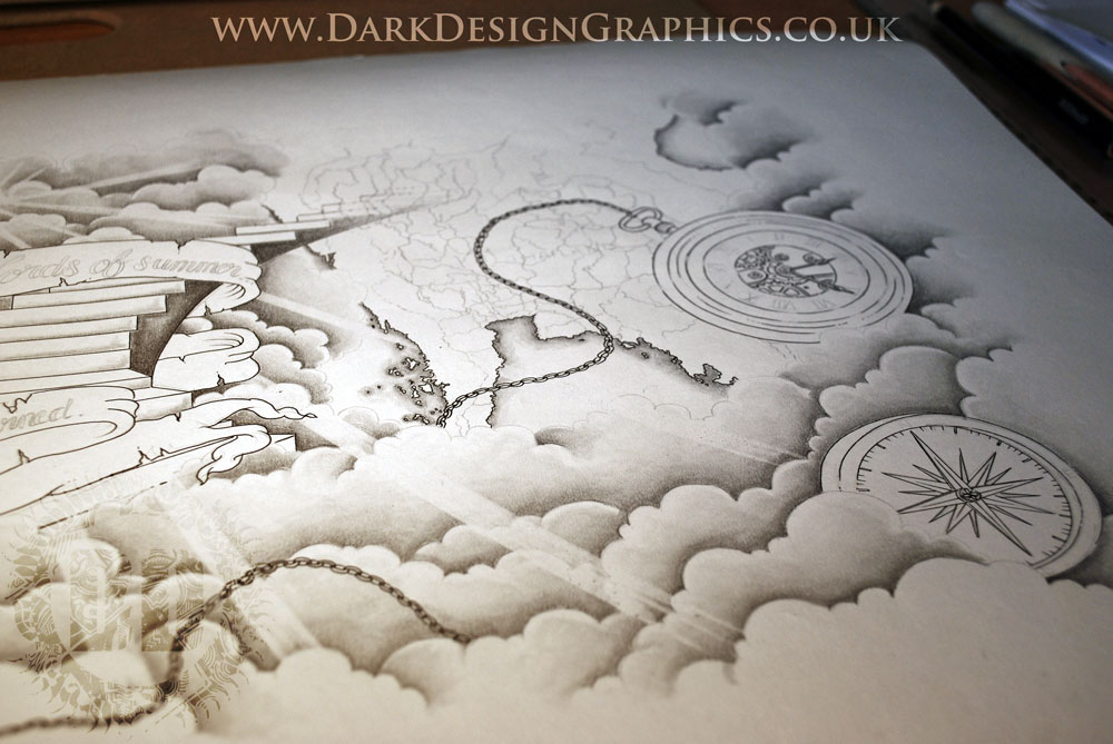 Cloud Tattoo Drawing: Using Artists Creativity In Commissions