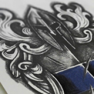 Warrior Crest Tattoo Design