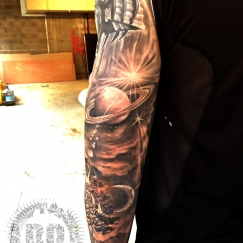 Full Sleeve Cover Up Tattoo