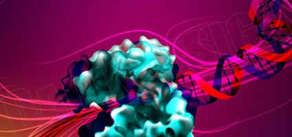 DNA transformed into wire by a Polymerase Enzyme - Science Magazine Illustration